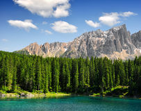 Carezza lake - Italy Royalty Free Stock Photography