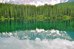 Carezza lake, Italy Stock Images