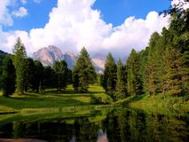 Carezza Lake, Italy Royalty Free Stock Photo