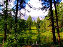 Carezza Lake, Italy Stock Image