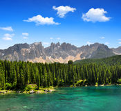 Carezza lake Royalty Free Stock Photos