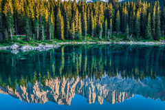 Carezza lake, Val di fassa, Dolomites, Alps, Italy Royalty Free Stock Photo