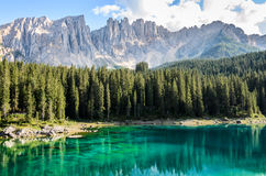 Carezza lake Royalty Free Stock Photo