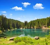 Carezza sjö Arkivbild