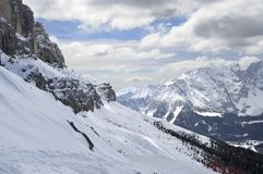 Carezza ski area, dolomites Royalty Free Stock Photo
