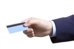 Cargúela en mi de la tarjeta de crédito imagen de archivo
