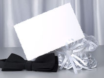 Carg, bridal garter and bow  tie Royalty Free Stock Image