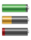 Carga de las pilas de batería Imágenes de archivo libres de regalías