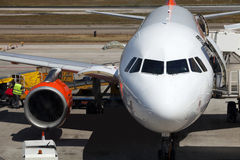 Carga de los aviones Fotos de archivo libres de regalías