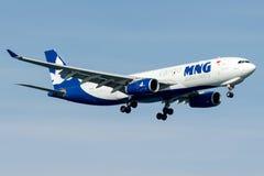 Carga de TC-MCZ MNG, Airbus A330 - 200F Imagens de Stock
