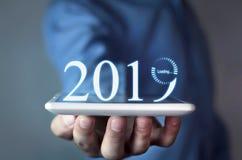 Carga de un Año Nuevo de 2019 Fotografía de archivo
