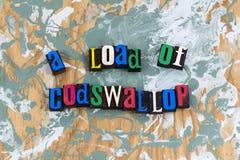 Carga del absurdo de Codswallop imagen de archivo