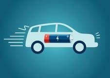 Carga del coche eléctrico Imagen de archivo libre de regalías