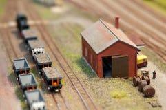 Carga determinada del tren Foto de archivo libre de regalías