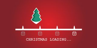 Carga do Natal Fundo da barra de carga da árvore de Natal Vetor imagem de stock