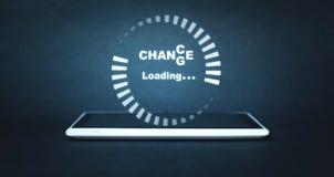 Carga do progresso com a mudança do texto à possibilidade Develo pessoal fotos de stock royalty free