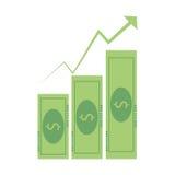 carga en cuenta el icono del incremento del gráfico de negocio ilustración del vector