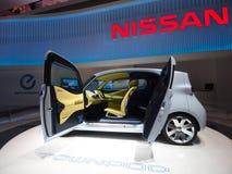 Carga futurista del coche eléctrico Imagen de archivo libre de regalías