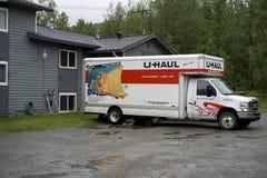 Carga para arriba de un camión del U-recorrido Imagen de archivo libre de regalías