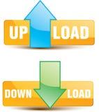 Carga por teletratamiento del botón, transferencia directa Imagen de archivo libre de regalías