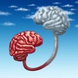 Carga por teletratamiento a la nube Imagen de archivo libre de regalías