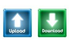 Carga por teletratamiento y transferencia directa de los iconos Fotografía de archivo