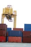 Carga terminal no porto portuário Imagens de Stock