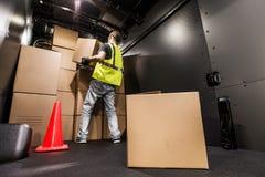 Carga Van Loading Fotografia de Stock