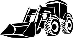 Cargador del tractor ilustración del vector