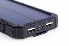 Cargador solar portátil para el teléfono elegante Fotografía de archivo libre de regalías