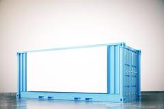 Cargaison bleue avec le panneau d'affichage illustration stock