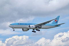 Cargaison Boeing 747-8B5F/SCD de Korean Air Image stock