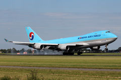 Cargaison Boeing 747 de Korean Air Images stock