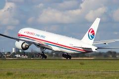 Cargaison Boeing 777 de la Chine Images libres de droits