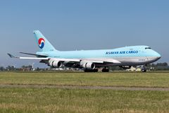 Cargaison de Korean Air photos stock