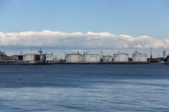 Cargaison de port de Ventspils images libres de droits