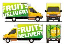 Cargaison Mercedes de la livraison de fruits Images stock