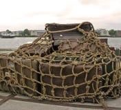 Cargaison prête pour l'expédition dans le port d'Amsterdam photos libres de droits