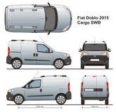 Cargaison SWB 2015 de Fiat Doblo Images libres de droits