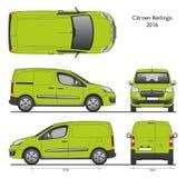 Cargaison Van de professionnel de Citroen Berlingo 2016 illustration de vecteur