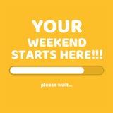 Cargamento abstracto del fin de semana en fondo amarillo Fotos de archivo