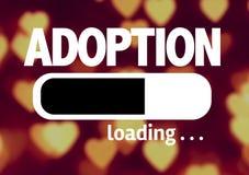 Cargamento de la barra de progreso con el texto: Adopción Fotografía de archivo