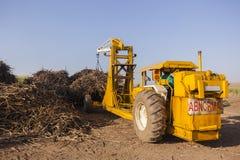 Cargamento de la cosecha del camión del tractor Foto de archivo libre de regalías