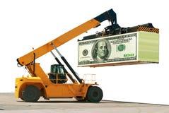 Cargamento del dinero Estructura del negocio éxito Foto de archivo libre de regalías