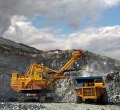 Cargamento del mineral de hierro Foto de archivo