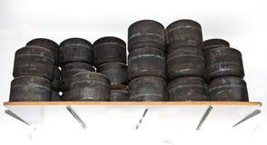Cargas das rodas de Karts Fotografia de Stock