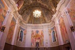 Cargese天主教会, Corse,法国 库存图片