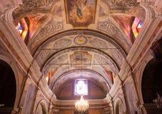Cargese天主教会, Corse,法国 免版税库存照片