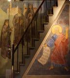 Cargese希腊教会, Corse,法国 免版税库存照片