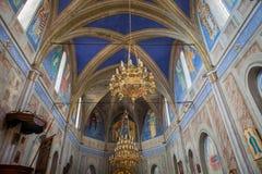 Cargese Grek教会, Corse,法国 图库摄影